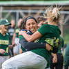 Oakmont RF Erika Hall celebrates a win over Nipmuc by jumping into the arms of catcher Rachel Sinclair in the Central Mass. Division 2 quarterfinals. Oakmont defeated Nipmuc, 5-0, on Saturday, June 3, 2017, in Ashburnham. SENTINEL&ENTERPRISE/ Jim Marabello