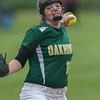Oakmont pitcher Paige Toothaker lets one go in the Central Mass. Division 2 quarterfinals against Nipmuc. SENTINEL&ENTERPRISE/ Jim Marabello