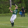 Cassidy Driscoll of Oakmont makes the catch in left field to bring the Lady Spartans within 1 out of defeating  Nipmuc in the Central Mass. Division 2 quarterfinals. SENTINEL&ENTERPRISE/ Jim Marabello