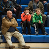 Fans, players, and coaches of Oakmont and Lunenburg girls basketball watch the first game to be held inside Lunenburg High School's new facility on Friday Dec. 9, 2016.  Sentinel & Enterprise photo/Jeff Porter