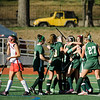 Oakmont celebrates a goal by Sarah Craig during the Division 2 state championship game against Watertown on Saturday afternoon at WPI. The Spartans would fall to Raiders 4-3. SENTINEL & ENTERPRISE / Ashley Green