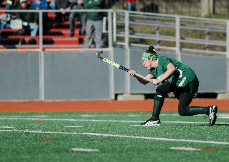 Oakmont's Rachael Lemay in action during the Division 2 state championship game against Watertown on Saturday afternoon at WPI. The Spartans would fall to Raiders 4-3. SENTINEL & ENTERPRISE / Ashley Green