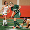Oakmont's Lauren Ladue in action during the Division 2 state championship game against Watertown on Saturday afternoon at WPI. The Spartans would fall to Raiders 4-3. SENTINEL & ENTERPRISE / Ashley Green