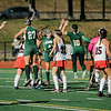 Oakmont's #10 Cassidy Driscoll jumps up to celebrate after scoring a goal during the Division 2 state championship game against Watertown on Saturday afternoon at WPI. The Spartans would fall to Raiders 4-3. SENTINEL & ENTERPRISE / Ashley Green