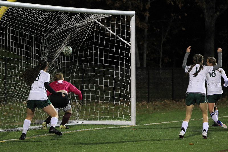 Oakmonts 18 Maddie Gorham scores the 1st goal for Oakmnont