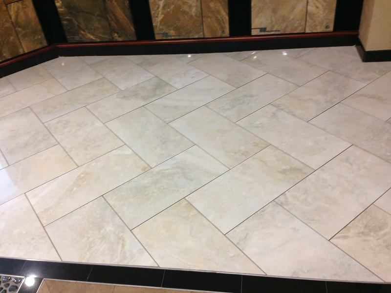 Herringbone design at Arizona Tile.