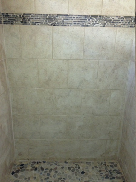 Standard tile with accent upgrade.