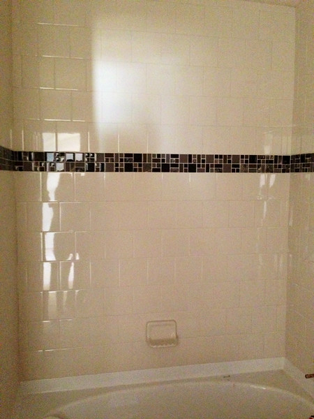 This is standard tile for shower bath #2 and #3. Without accent tile.