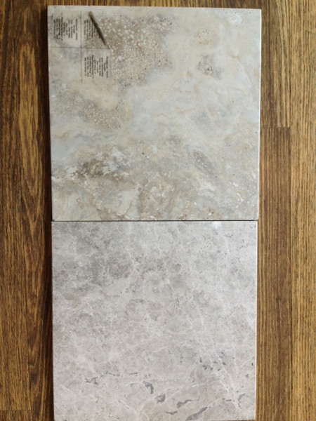 Comparing marble with a tile.