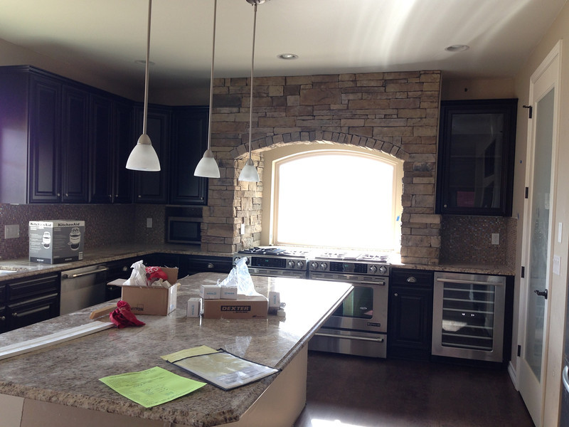 Stone in kitchen of over look.