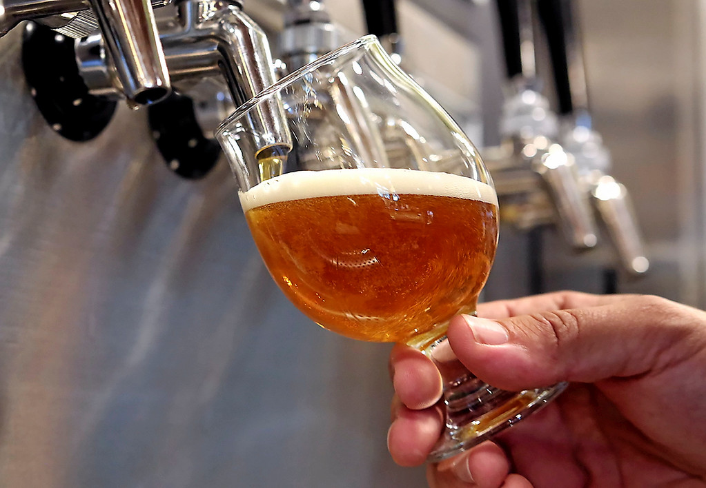 . Uncommon Brewers features many of their unique varieties on tap at Oasis Tasting Room and Kitchen. (Shmuel Thaler -- Santa Cruz Sentinel)