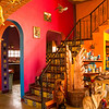 The colorful woodworking studio!