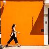 Orange Wall and Shadows