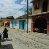 Teotitlan street scene Lunes Santos 2012