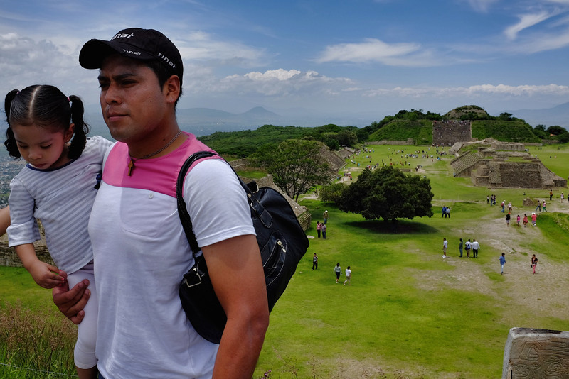 Photo op above Monte Alban