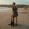 Kik with new friend on Zicatela beach, Puerto Escondido, Oaxaca