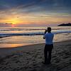 Shooting sunset on Zicatela beach, Puerto Escondido, Oaxaca