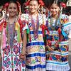 Beautiful Senoritas In Their Elaborate Festival Dresses