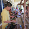 Another Expert Weaver Demonstrates For the Tourists