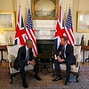 LONDON, ENGLAND - APRIL 22:  British Prime Minister David Cameron speaks with US President Barack Obama as they met at Downing Street on April 22, 2016 in London. The President and his wife had a  brief visit to the UK where they had lunch with HM Queen Elizabeth II at Windsor Castle and dinner with Prince William and his wife Catherine, Duchess of Cambridge at Kensington Palace.<br /> During the visit he was invited and accepted a rare honour to address the British Parliament, Speaker of the House of Commons only three American Presidents have ever received this honour Ronald Reagan, Bill Clinton, Barack Obama.
