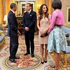 A very close bond was established between the British  Royals and America's first family the Obamas