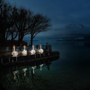 Adventbeleuchtung auf dem Wolfgangsee