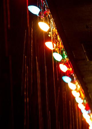 Christmas Lights in the Rain