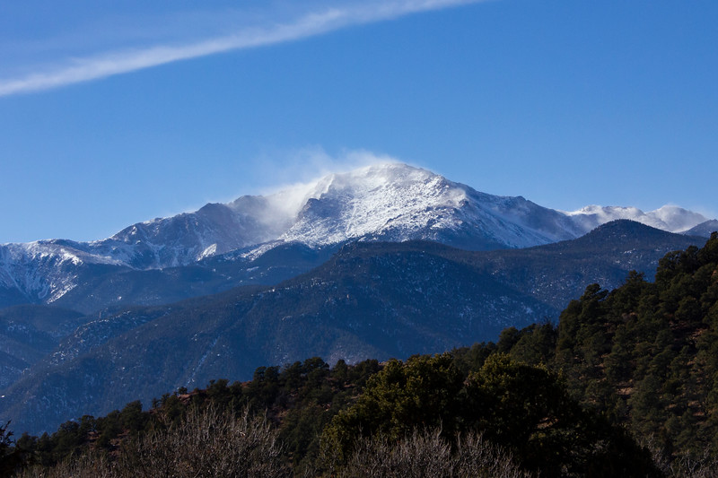 Snow on Pikes Peak