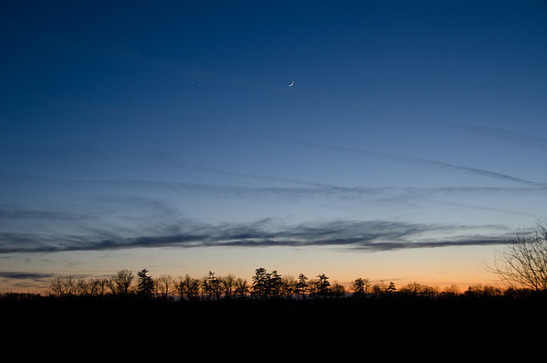 Crescent Moon at sunset