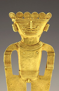 Pre-Columbian Quimbaya gold figure from Art For Eternity