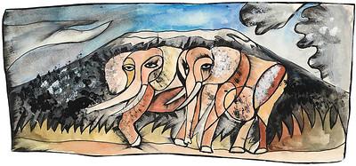 """Elephants"" - Dan Eldon"