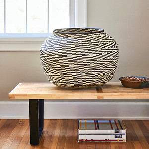 Grande Black & White Cultural from Rainforest Baskets