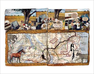 """""""Gauguin in Africa"""" - Dan Eldon"""