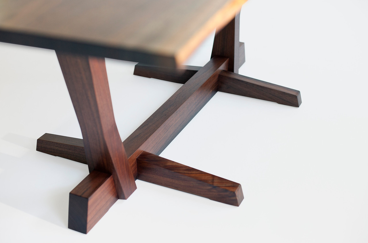 Hand-hewn Table: Detail