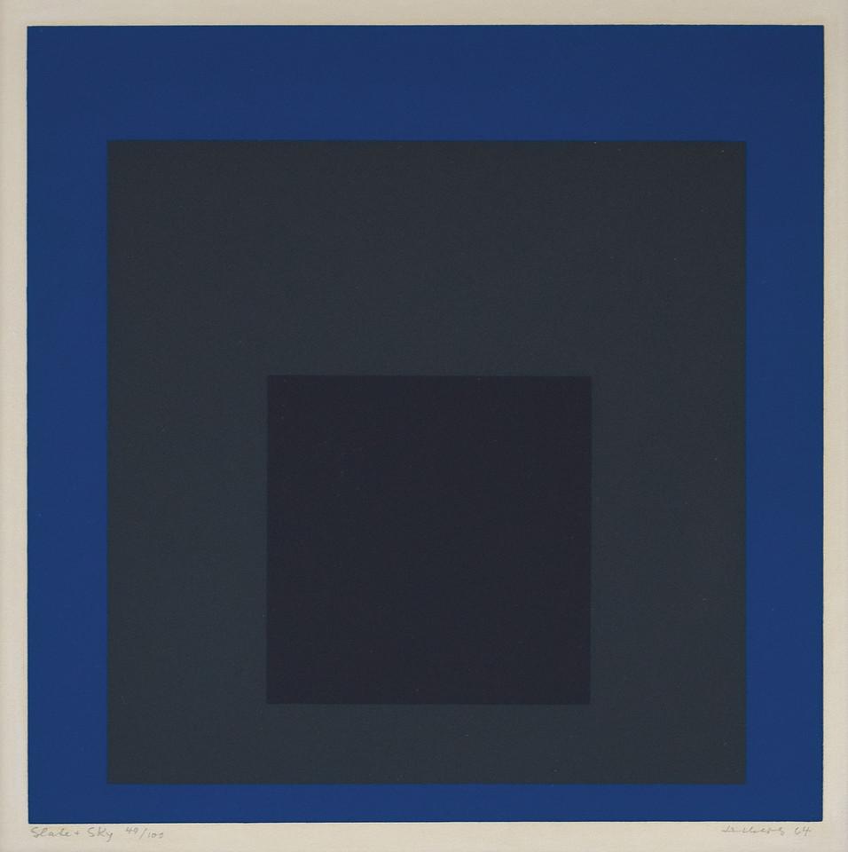 Josef Albers (1888-1976) - Slate and Sky