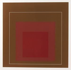 """Josef Albers (1888-1976) - White Line Square IV from the Series """"White Line"""""""
