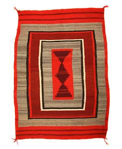 Navajo Transitional Double Saddle Blanket