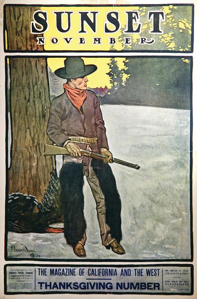 Sunset Magazine Cover, November 1904
