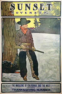 Sunset Magazine Poster November 1904