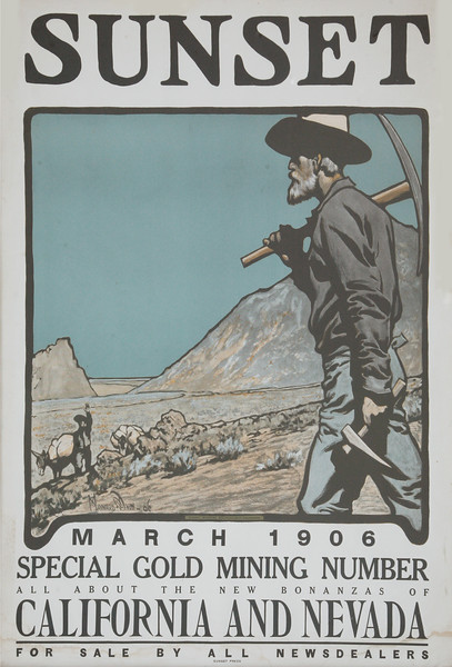 Sunset Magazine Poster  March 1906