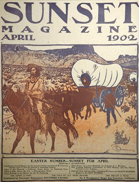 Sunset Magazine Cover, April 1902