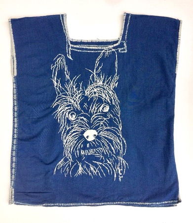 Handmade Blouse with Terrier