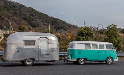 Volkswagen Typ 2 T1 with Airstream camper