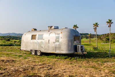 A Gulf Airstream vintage trailer home on display on the Boso Flower line. https://en.wikipedia.org/wiki/Airstream