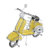 Yellow bead and wire scooter