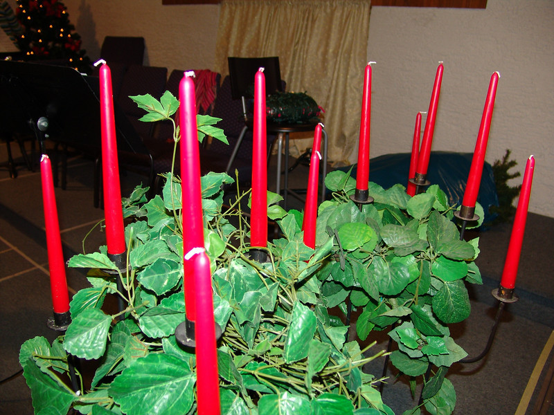 Christmas Candles in Church