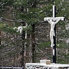 Crucifix under the snow