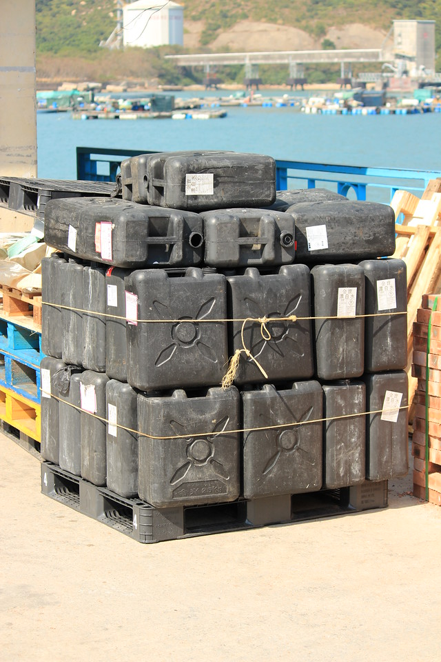 Pallet of Chemical Drums