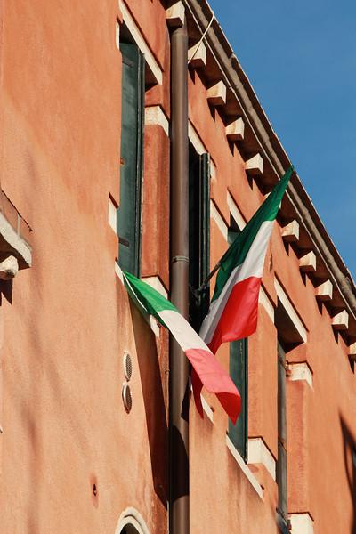 Italy, Venice, Italian Flags