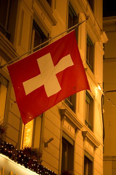 Switzerland, Lucerne, Swiss Flag